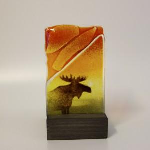 Ljuslykta för värmeljus, 10cm hög 6 cm bred